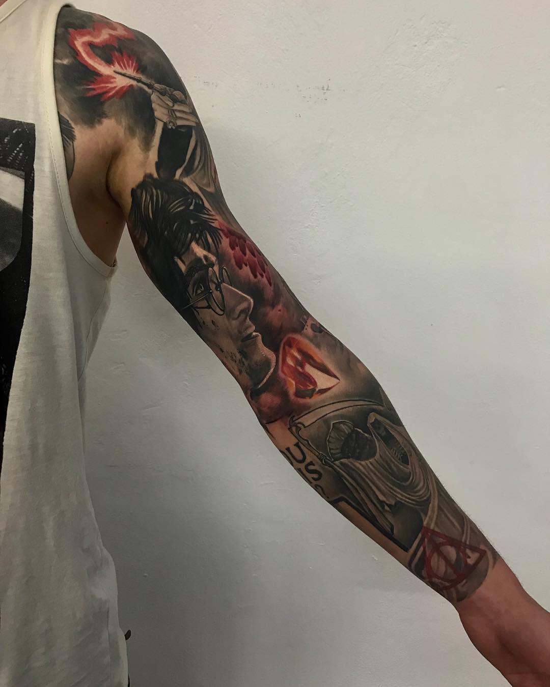 top 10 tatuagens de harry potter